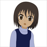 Cute cartoon anime little girl