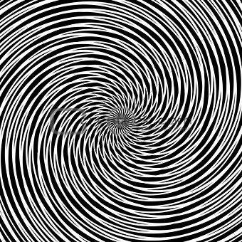 Circular vortex movement.