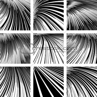 Abstract textured backgrounds set.