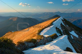 Carpathian Mountains early spring