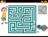 maze activity illustration
