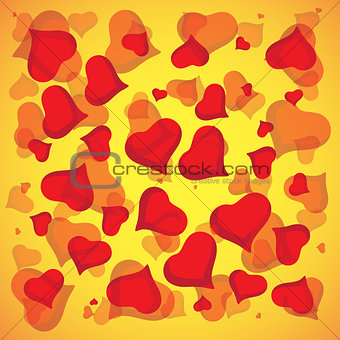 Abstract vector love background full of hearts. Valentine s day for card