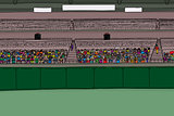 Large Group of Spectators in Stadium