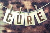 Cure Concept Pinned Stamped Cards on Twine Theme