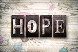 Hope Concept Metal Letterpress Type