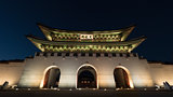 Gwanghwamun Gate in night Seoul, South Korea