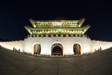 Night view of Gwanghwamun Gate in Seoul, South Korea