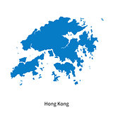 Detailed vector map of Hong Kong