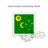Cocos Islands and Keeling Islands Flag Postage Stamp.