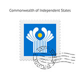 Commonwealth of Independent States Flag Postage Stamp.