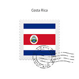 Costa Rica Flag Postage Stamp.