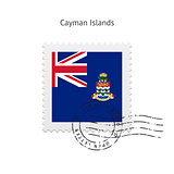 Cayman Islands Flag Postage Stamp.