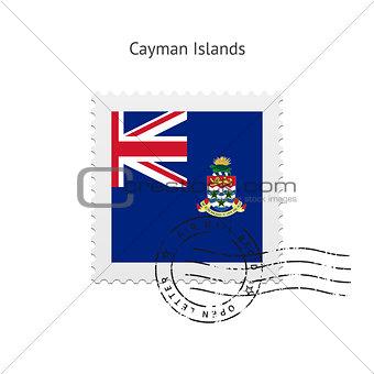 Cayman Islands Flag Postage Stamp.