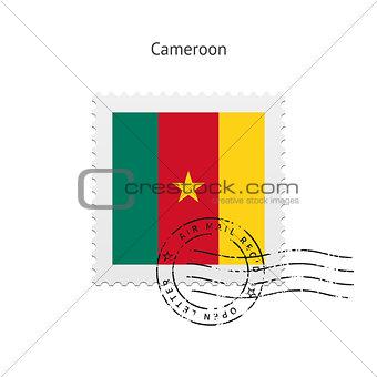 Cameroon Flag Postage Stamp.