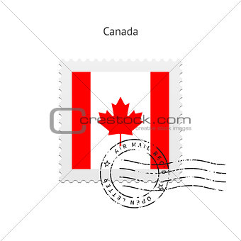 Canada Flag Postage Stamp.