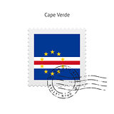 Cape Verde Flag Postage Stamp.