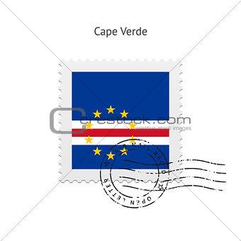 Cape Verde Flag Postage Stamp.