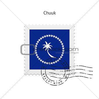 Chuuk Flag Postage Stamp.