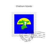 Chatham Islands Flag Postage Stamp.