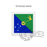 Christmas Island Flag Postage Stamp.