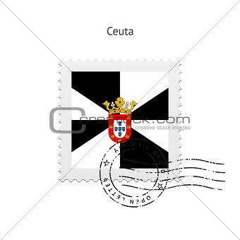 Ceuta Flag Postage Stamp.