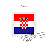 Croatia Flag Postage Stamp.