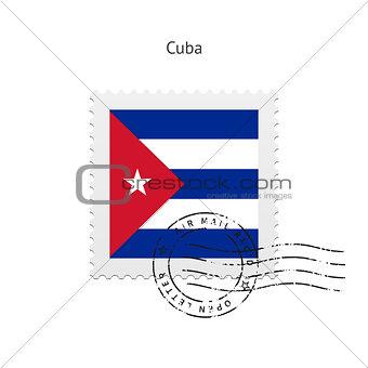 Cuba Flag Postage Stamp.