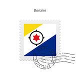 Bonaire Flag Postage Stamp.