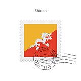 Bhutan Flag Postage Stamp.