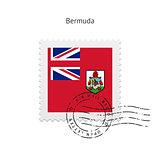 Bermuda Flag Postage Stamp.