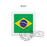 Brazil Flag Postage Stamp.