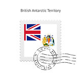 British Antarctic Territory Flag Postage Stamp.