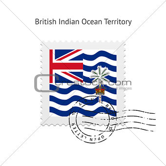 British Indian Ocean Territory Flag Postage Stamp.