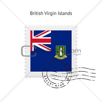 British Virgin Islands Flag Postage Stamp.