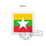 Burma Flag Postage Stamp.