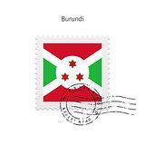 Burundi Flag Postage Stamp.