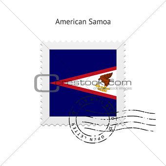 American Samoa Flag Postage Stamp.