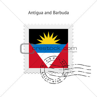 Antigua and Barbuda Flag Postage Stamp.