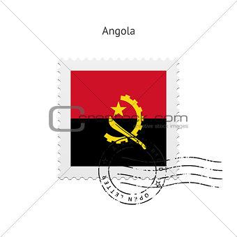 Angola Flag Postage Stamp.