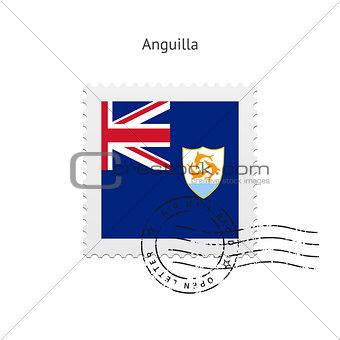 Anguilla Flag Postage Stamp.