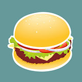 The Illustration Hamburger
