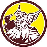 Norse God Odin Raven Circle