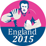 Rugby Player Fending England 2015 Circle