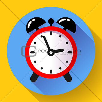 alarm clock icon vector flat