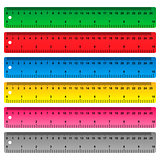 Ruler in centimeters, millimeters and inches