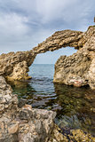 Natural arch over water in Costa Brava, Spain
