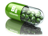 Vitamin B8 capsule. Dietary supplements.