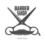 vintage barber shop logos, labels, badges, design elements