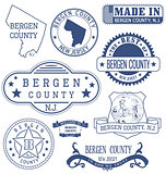 Bergen county, NJ, generic stamps and signs