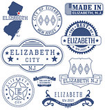 Elizabeth city, NJ, generic stamps and signs